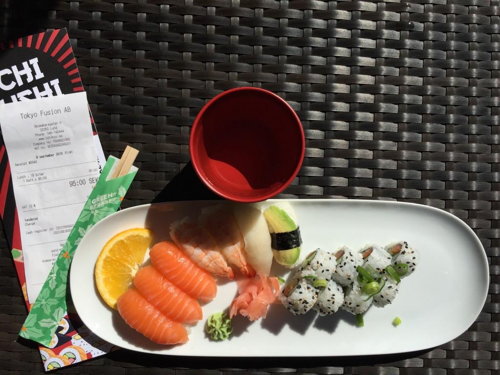 Ichi Sushi, 15 bitar, 95:-