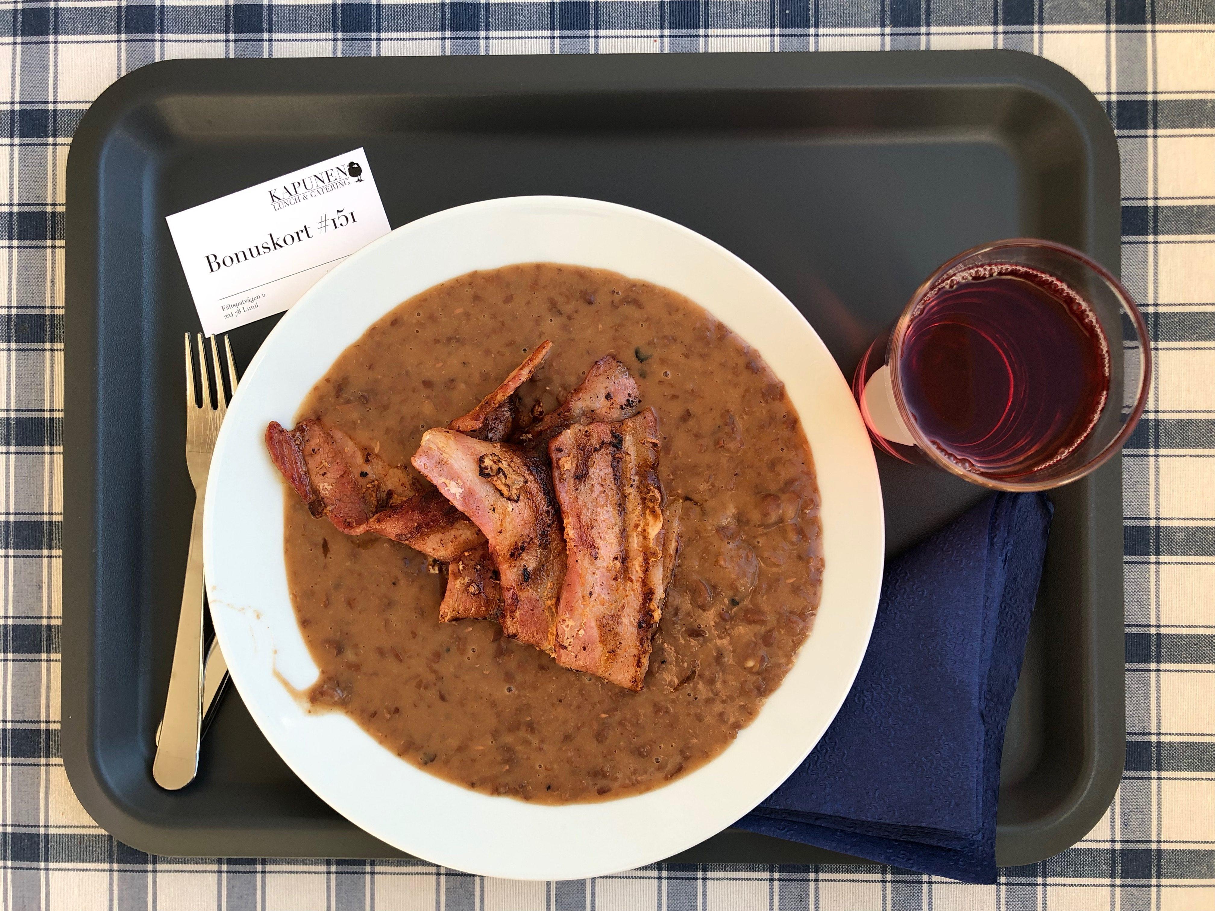 En precis godkänd (men inte mer) bruna bönor med fläsk för 80:-